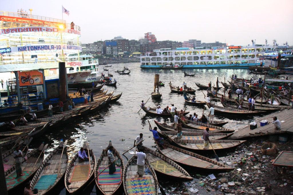 Port de rivière, Dacca, Bangladesh