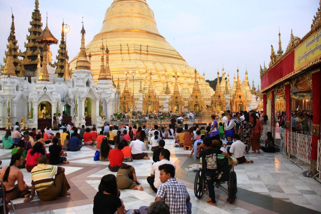 Pagode de Shwedagon, Rangoun, Myanmar