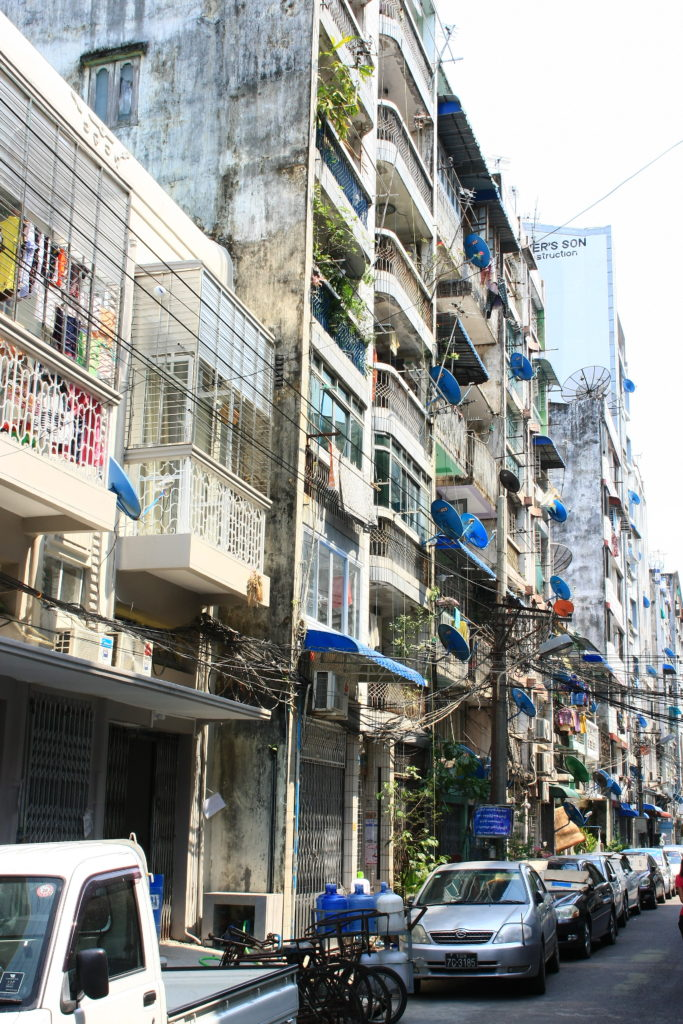 Immeubles de Rangoun, Myanmar