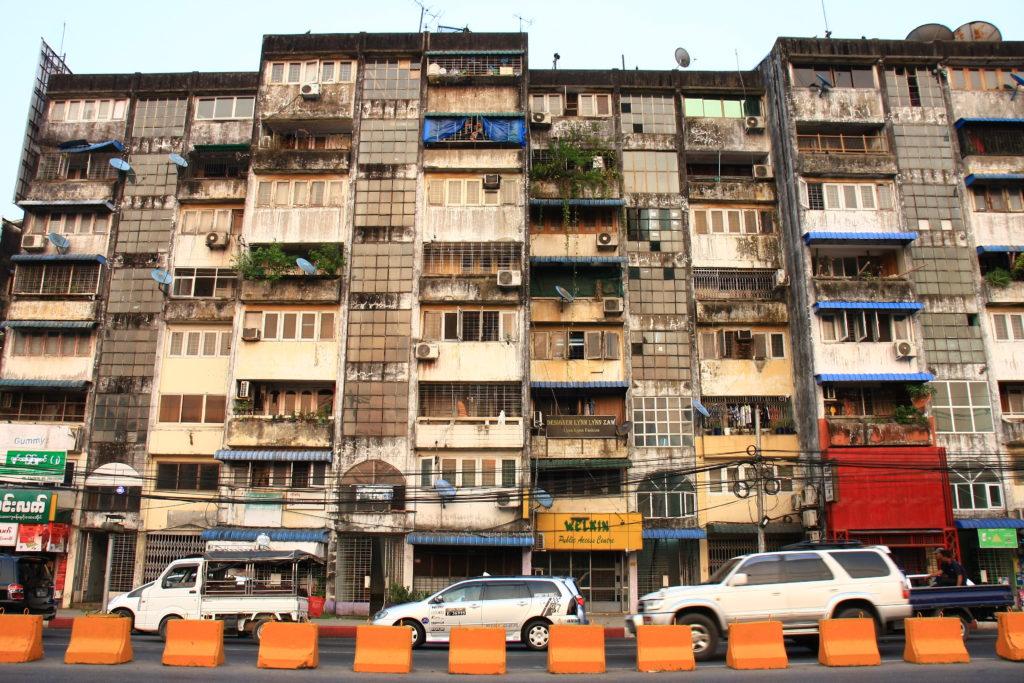 Immeuble de Rangoun, Myanmar