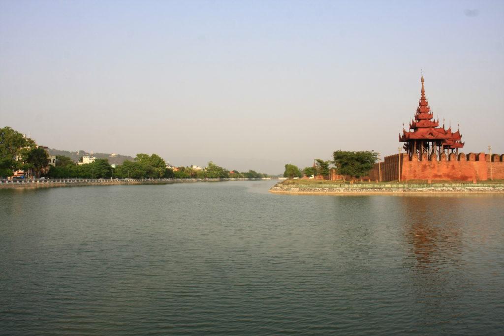 Douves du palais de Mandalay, Myanmar