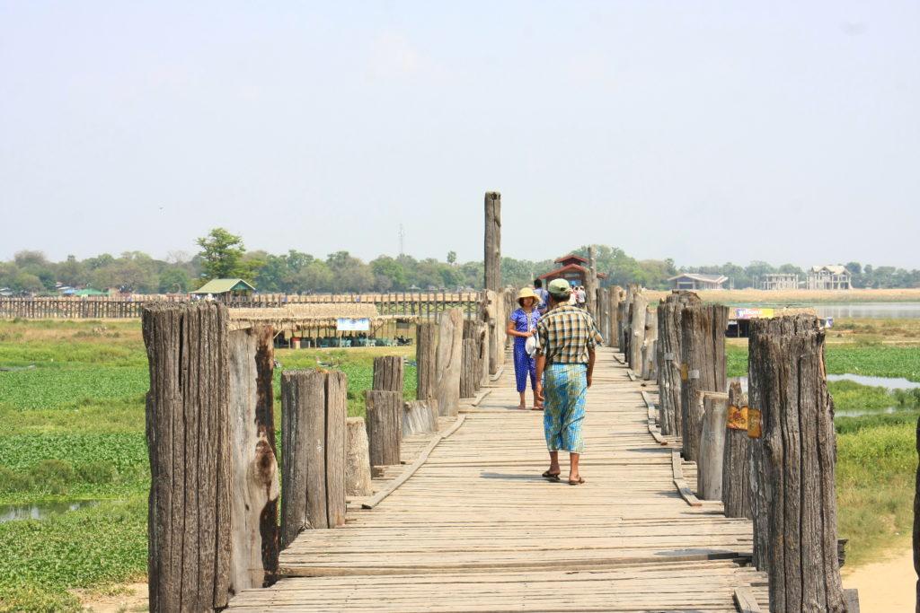 Pont -U-Bein, Mandalay, Myanmar