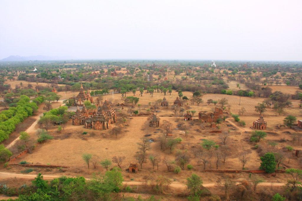 Vue de haut, Bagan, Myanmar