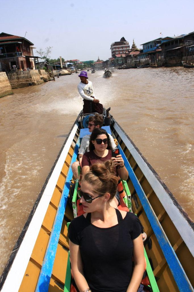 En bateau, Lac Inle, Myanmar