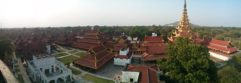 Panorama du palais de Mandalay, Myanmar