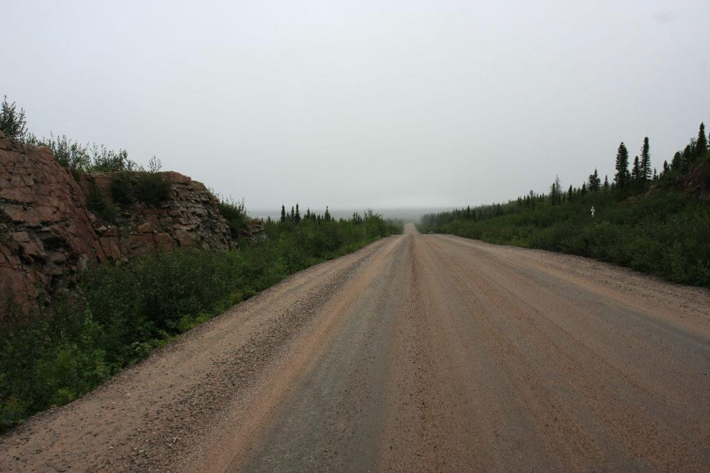 Route du Labrador en gravier
