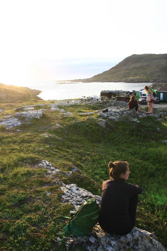 Au camping de la ville de Fogo