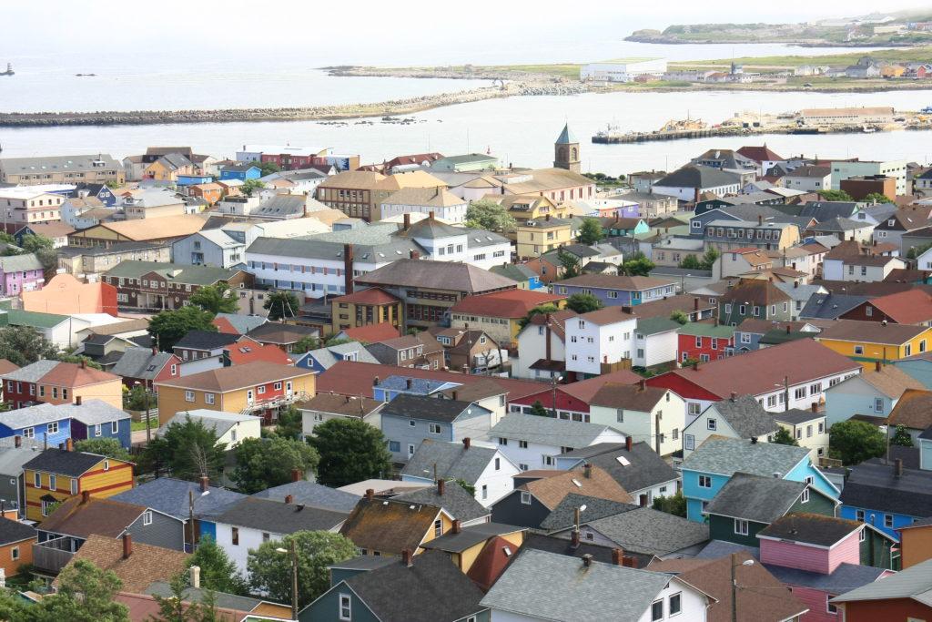 Zoom sur la ville de Saint-Pierre