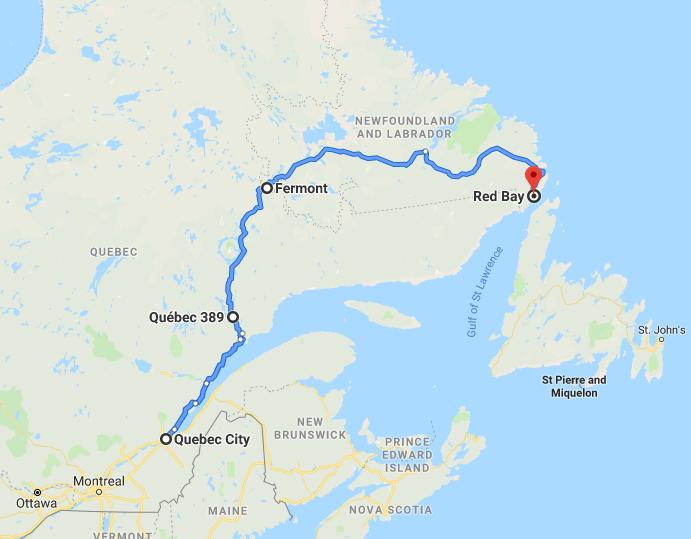 Québec à Red Bay