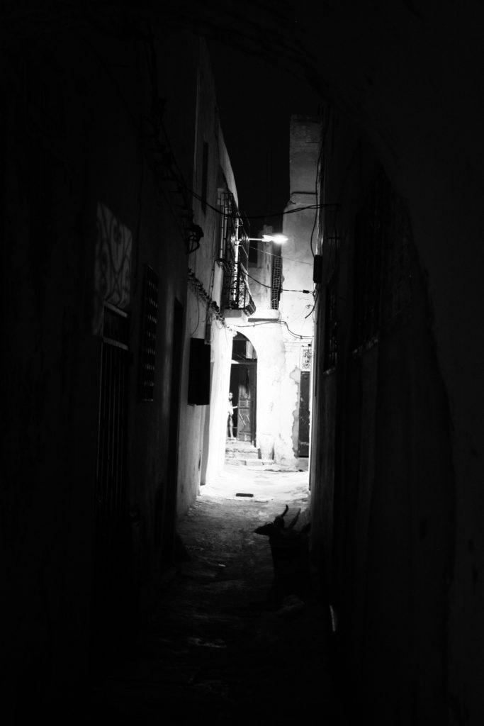 La médina de Tunis, la nuit