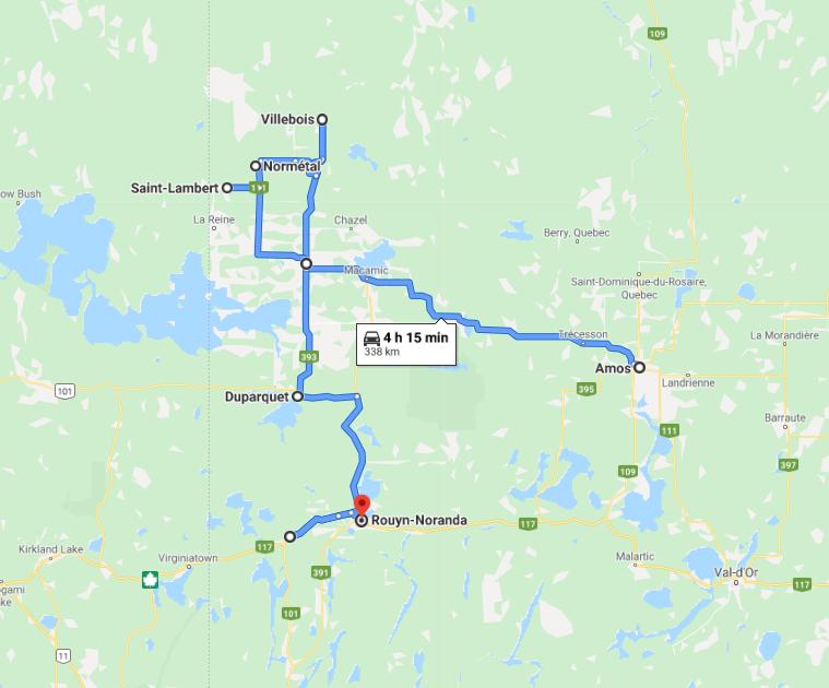 Tour du Nord du Québec – Jour 5 (Amos à Rouyn-Noranda)